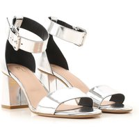 RED Valentino Sandals for Women On Sale in Outlet, Silver, Leather, 2019, 3.5 5.5