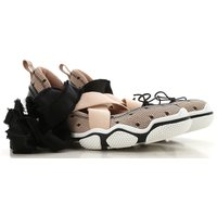 RED Valentino Ballet Flats Ballerina Shoes for Women On Sale, Nude, Textile, 2019, 2.5 4.5 5.5