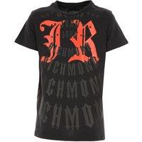 John Richmond Kids T-Shirt for Boys On Sale, Black, Cotton, 2019, 10Y 14Y 16Y