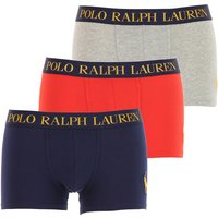 Ralph Lauren Boxer Briefs for Men, Boxers, 3 Pack, Dark Blue, Cotton, 2019, M (EU 4) S (EU 3) L (EU
