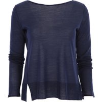 Roberto Collina Sweater for Women Jumper On Sale, Midnight Blue, Merinos Wool, 2019, 10 12 8