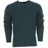 Roberto Collina Sweater for Men Jumper, Dark Green, Extrafine Merino Wool, 2019, L M S XL
