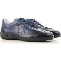 Santoni Sneakers for Men, Santoni For Amg, Blue, Leather, 2017, 10 10.5 11 11.5 5 6 6.5 7 7.5 8 9 9.