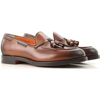 Santoni Loafers for Men, Brown, Leather, 2019, 11 8.5