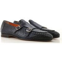 Santoni Loafers for Men On Sale, Midnight, Leather, 2019, 10 7 7.5 8 8.5 9 9.5