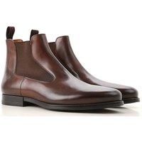 Santoni Chelsea Boots for Men On Sale, Chestnut, Leather, 2019, 7 9 9.5