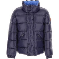 Save the Duck Boys Down Jacket for Kids, Puffer Ski Jacket On Sale, Blue, Nylon, 2019, 10Y 4Y 6Y 8Y
