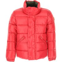 Save the Duck Boys Down Jacket for Kids, Puffer Ski Jacket On Sale, Red, Nylon, 2019, 6Y 8Y