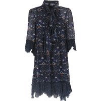 Chloe Dress for Women, Evening Cocktail Party On Sale in Outlet, Blue, polyester, 2019, 6