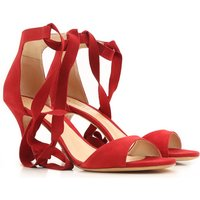 Schutz Sandals for Women On Sale, Red, Suede leather, 2017, 3.5 4.5 6.5