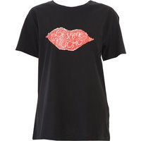 Silvian Heach T-Shirt for Women On Sale, Black, Cotton, 2019, 6 8