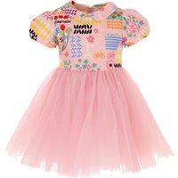 Simonetta Girls Dress, Pink, Cotton, 2019, 2Y 3Y