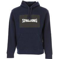 Spalding Sweatshirt for Men, Navy Blue, Cotton, 2019, L M XL XXL