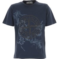 Stone Island Kids T-Shirt for Boys On Sale in Outlet, Blue, Cotton, 2021, 10Y 12Y