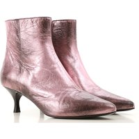 Strategia Boots for Women, Booties On Sale, Alluminium pink, Leather, 2019, 3.5 4.5 6.5 7.5