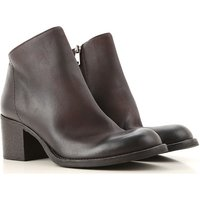 Strategia Boots for Women, Booties On Sale, Dark Brown, Leather, 2019, 3.5 4.5 5.5 6.5