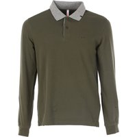 Sun68 Polo Shirt for Men On Sale in Outlet, Military Green, Cotton, 2017, L M
