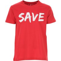 Save the Duck T-Shirt for Men On Sale, Red, Cotton, 2019, L M XL XXL