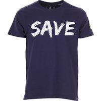 Save the Duck T-Shirt for Men On Sale, Blue, Cotton, 2019, L M XL XXL