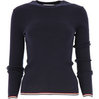 THOM BROWNE Sweater for Women Jumper, Navy Blue, Wool, 2019, 10 12 8