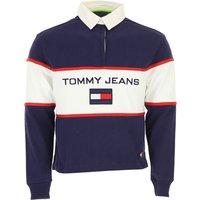 Tommy Hilfiger Polo Shirt for Men, Blue Navy Melange, Cotton, 2019, L M