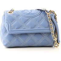 Tory Burch Shoulder Bag for Women On Sale, Blue Wood, Leather, 2019