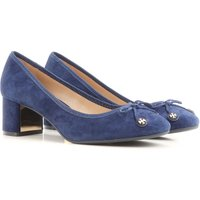 Tory Burch Pumps & High Heels for Women On Sale in Outlet, Royal Navy Blue, Suede leather, 2019, 3 3