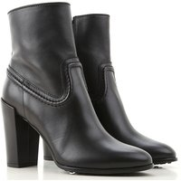 Tods Boots for Women, Booties On Sale, Black, Leather, 2021, 5.5 6