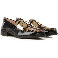 Tods Loafers for Women On Sale, cappuccino, Patent Leather, 2019, 4 4.5 5.5 6