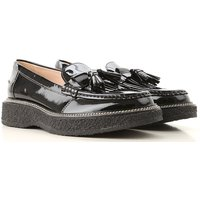 Tods Loafers for Women On Sale, Black, Patent Leather, 2019, 3.5 4 4.5 5.5 6 6.5 7.5