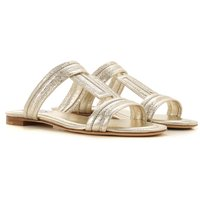 Tods Sandals for Women On Sale, Gold, Leather, 2019, 4 4.5 5.5