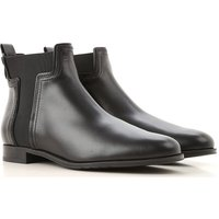 Tods Boots for Women, Booties On Sale in Outlet, Black, Leather, 2019, 4 4.5 6 6.5 8.5