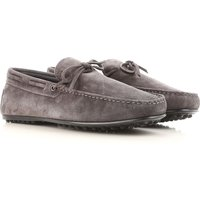 Tods Loafers for Men, Ash Grey, Suede leather, 2017, 11 6 6.5 7 7.5 8 8.5 9 9.5