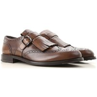 Tods Monk Strap Shoes for Men, Cacao, Leather, 2019, 6 6.5