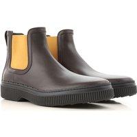 Tods Chelsea Boots for Men, Dark Brown, suede, 2019, 7 8.5