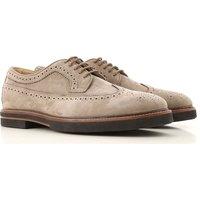 Tods Zapatos con Cordones para Hombre, Oxfords, Zapatos Calados Baratos en Rebajas, Cieno, Gamuza, 2019, 40 41 41.5 42 42.5 43 44.5