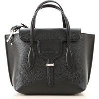 Tods Shoulder Bag for Women On Sale, Black, Crackle Leather, 2019