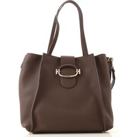 Tods Tote Bag, Dark Cocoa, Leather, 2019