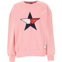 Tommy Hilfiger Sweatshirt for Women, Pink, Cotton, 2019, 6 8