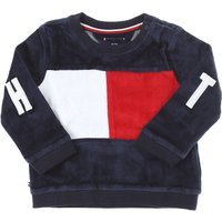 Tommy Hilfiger Baby Sweatshirts & Hoodies for Boys On Sale, Blue, Cotton, 2019, 18M 3M 6M 9M