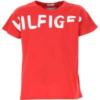 Tommy Hilfiger Kids T-Shirt for Girls On Sale, Red, Cotton, 2019, 14Y 6Y 8Y