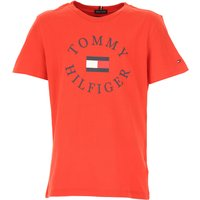 Tommy Hilfiger Kids T-Shirt for Boys, Red, Cotton, 2019, 10Y 14Y 16Y 4Y 6Y 8Y