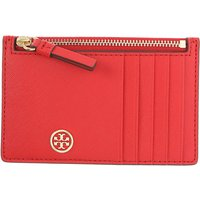 Tory Burch Card Holder for Women, Brilliant Red, Leather, 2019