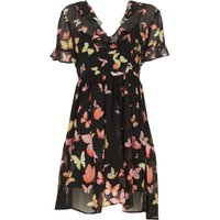 Twin Set by Simona Barbieri Dress for Women, Evening Cocktail Party On Sale, Black, viscosa, 2019, 1
