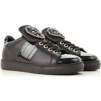 Twin Set by Simona Barbieri Sneakers for Women On Sale, Black, Leather, 2019, 2.5 4.5 7.5