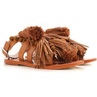 Twin Set by Simona Barbieri Sandals for Women On Sale, Leather Brown, Leather, 2017, 3.5 4.5 5.5