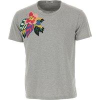 Valentino Camiseta de Hombre Baratos en Rebajas Outlet, Gris, Algodon, 2019, L M S