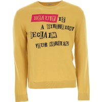 Valentino Sweater for Men Jumper On Sale in Outlet, Mustard, Virgin wool, 2019, L S XL