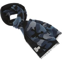 Valentino Scarf for Men, Black, Wool, 2017