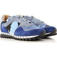 Valentino Garavani Sneakers for Men, Night Blue, Suede leather, 2019, 6 6.5 7 7.5 8.5
